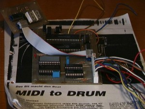 German selfmade MIDI interface for the 808 (was published by an German electronic magazine with the parts to build one)